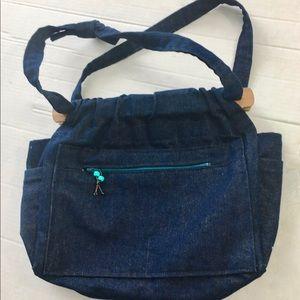 Handbags - Handmade Dark Denim Bag Lined Beautiful Pristine